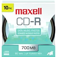 MAXELL CD-R 700MB 10PK HANG SP