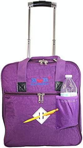 16 Rolling Free Personal item Under Seat Duffel for Allegiant Air Purple