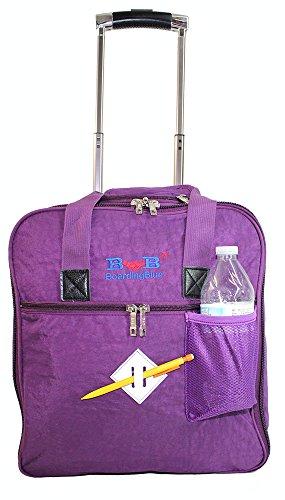 (New BoardingBlue Allegiant Air Rolling Free Personal item Under Seat (Purple))