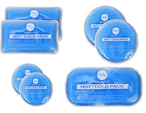 Reusable Hot and Cold Gel Ice Packs for Injuries Reusable | Cold Compress, Ice Pack, Gel Ice Packs, Cold Pack, Gel ice Pack, Cold Packs for Injuries | 7 Pack