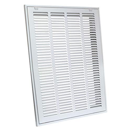 EZ-FLO 61633 Steel Return Air Filter Grille for Sidewall and Ceiling Installation, 20