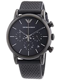 Emporio Armani Men's Classic AR1737 Black Leather Leather Quartz Watch