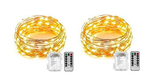 LED Drahtlichterkette 100 LEDs Fernbedienung 8 Funktionen 6//18h Timer Außen IP44