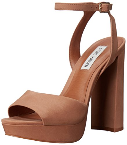Steve Madden Women's Brrit Dress Sandal, Camel Nubuck, 10 M US