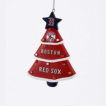 Amazon.com: Boston Red Sox Christmas Tree Shaped Ornament Decoration ...