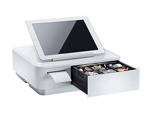 Star Micronics 39650010 Model MPOP10 mPOP with 2'' Integrated Printer and Cash Drawer, Universal Tablet Stand, Internal Power Supply, White by Star Micronics
