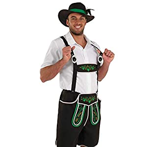 fun shack Mens Lederhosen Costume Adults Oktoberfest German Bavarian Shorts Outfit