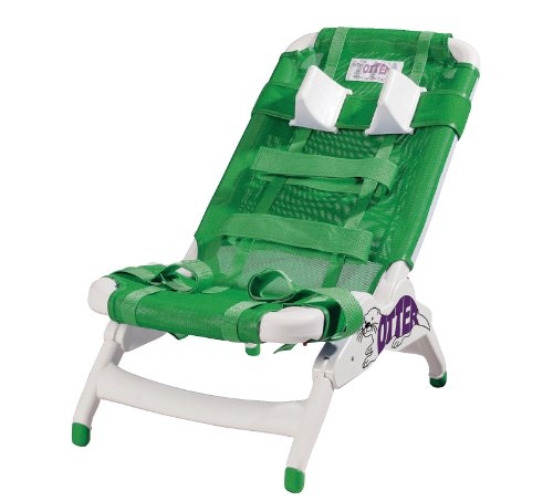 Chair Otter Bath - Wenzelite Otter Pediatric Bathing System, Green, Medium