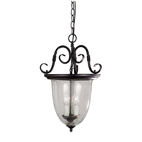 World Imports Lighting 76303-42 Cardiff Collection 3-Light Lantern, Rust