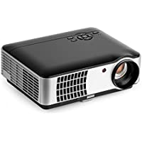 LED Video projector,YKS 2800 Lumens Movie home Projector Support 1080P HD 1280x800 Native Resolution for Home Cinema Theater TV Laptop Game SD iPad iPhone Android Smartphone (Black)