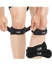 Patella Tendon Knee Strap 2-delige set, kniepijnverlichtingssorthese wandelen, voetbal, basketbal, hardlopen, jumpers knie, tennis, peesontsteking, volleybal en kniebuigingen