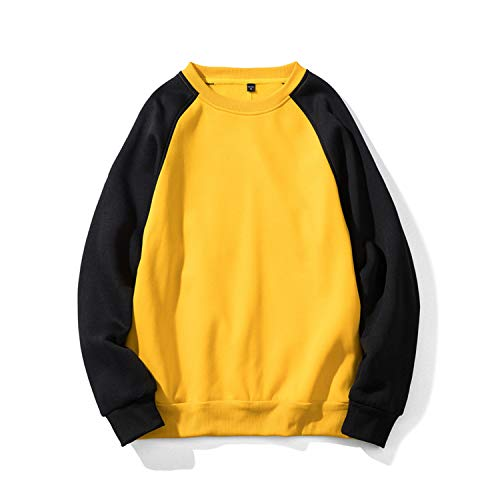 4f12261c The small cat New Brand Fashion Hoodies Men's Clothes Autumn Sweatshirts  Men Hip Hop Streetwear Hoody,Yellow Black1,L