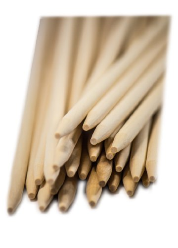 Perfect Stix Wooden Semi Pointed Corn Dog/Concession Skewer Sticks 10'' Length (pack of 2500) by Perfect Stix (Image #1)