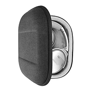 Geekria UltraShell Headphone Case for Bose QuietComfort 35 II, QC35 II, QC25 Headphones and More - Replacement Protective Hard Shell Travel Carrying Bag with Room for Accessories (Dark Gray)
