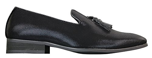Black Slip On Driving Black Smart Casual Mens Snake galax Leather Shiny Tassel Shoes Loafers EtCW4aqBwa