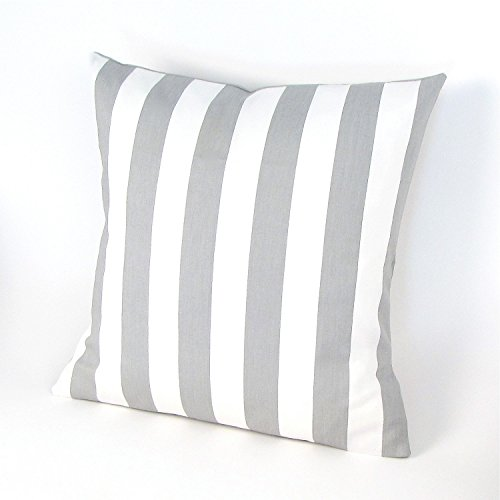 grey-and-white-canopy-throw-pillow-cover-stripes-cushion-accent-pillow-euro-sham-cushion-cover-26-x-