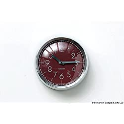 Karlsson Wall Clock - Wall Clock Convex - Round, Red Clock