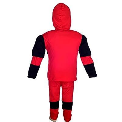 Dressy Daisy Boys' Costume Fancy Dress Up Muscle Superhero Costume Halloween Party Mask Size 6-7: Clothing