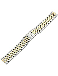 MS18AU285048 Deco 18mm Stainless Steel Two Tone Watch Bracelet