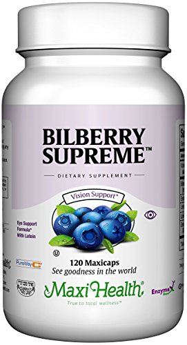 Maxi Health Bilberry Supreme with Eyebright and Lutein Eye Support Formula, 120 Count by Maxi-Health