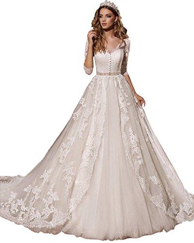 beaded angel sleeve wedding dress - 2