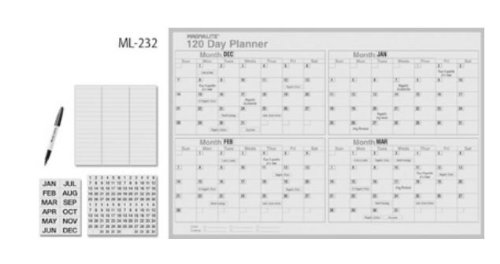 Magna Visual ML-232 24in. x 36in. Magnalite 120-day planner kit