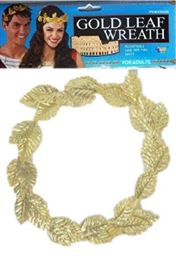 [Roman God or Goddess Gold Leaf Crown - Laurel] (Roman Goddess Accessories)
