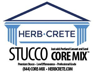 Stucco Core Mix by HerbCrete - Breathable Stucco Mix no harmful Acrylics - Designed to Last 500 Years