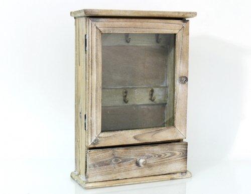 Schlüsselkasten mit Schublade Holz Shabby Landhaus Schlüsselschrank ...