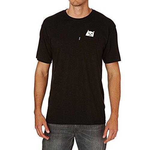 RIPNDIP Lord Nermal Pocket T-Shirt (Small, Black)
