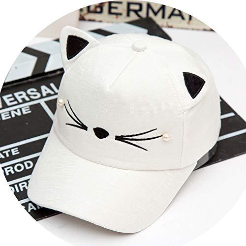 赤ちゃんの女の子 かわいい耳のコーナー 野球のキャップ 子供のリバウンド 夏 調節可能な 帽子,1