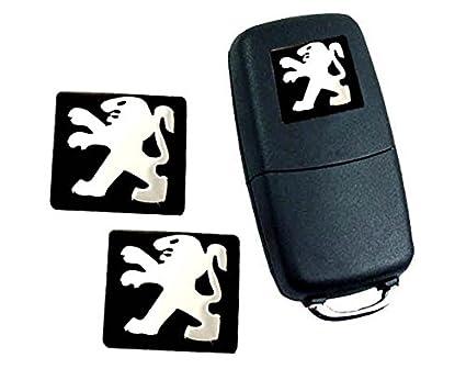 Robigal x2 Pegatinas Emblema Logo ADESIVO para Mando Llave Llavero Coche Moto 15X15MM