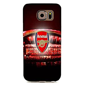 Arsenal Football Club Logo 3D Plastic Shell Accessory Mystery High Quality Cover Case Back Skin for Samsung Galaxy S6 Edge