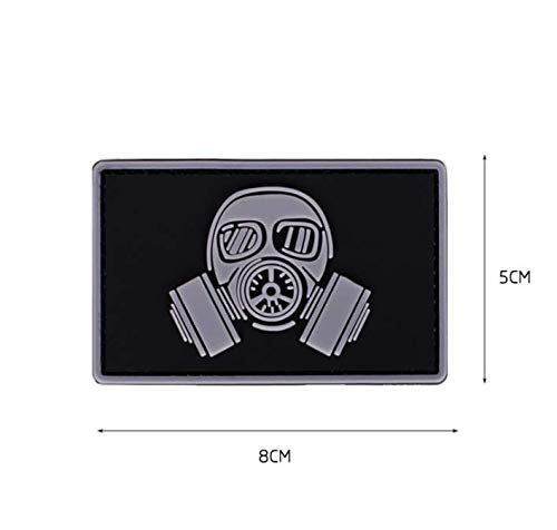 MASKED COWBOY GUNFIGHTER TACTICAL ARMY MORALE AIRSOFT 3D PVC VELCRO PATCH