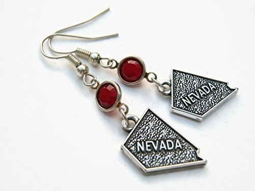 rrings, Personalized US State Map Earrings, Geography Jewelry, Southwestern gift ()