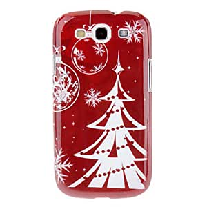 White Christmas Tree Merry Christmas Pattern Protective Hard Back Case Cover for Samsung Galaxy S3 I9300