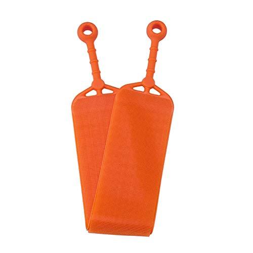 ath Towel Rub Brush Pull Back Strip Rub Back Belt Bathroom Tools(Orange) ()