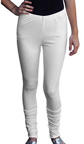 - Ayurvastram Women's Cotton Spandex Stretchable Jersey Extra Long Leggings; Cream; XSmall