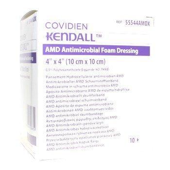 Kendall AMD compresa espuma stérile 10 x 10 cm Pack de 10