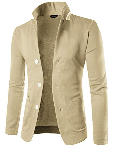 (JINIDU Men's Casual Suit Blazer Jackets Lightweight Cotton Sports Coats)