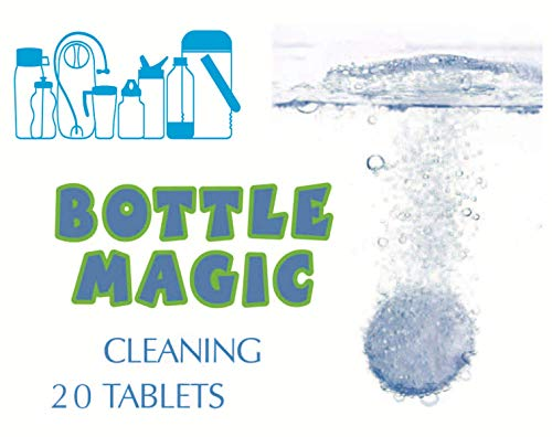 MUNFA Bottle Magic Hydration Cleaning Tablets (20 Tablets) for Water Bottles & Drinkware - Powerful, All Natural, Chlorine Free, Biodegradable