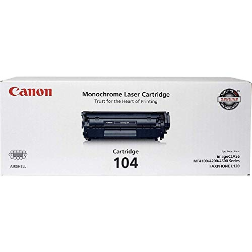 canon laser 0263b001aa type 104 toner cartridge for fax-l120 mf4150 mf4270 mf4690