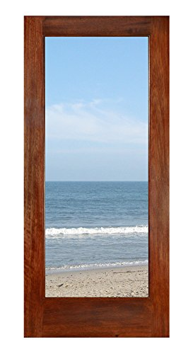 1 Lite Mahogany French Door With Dual Pane Clear Glass. S...