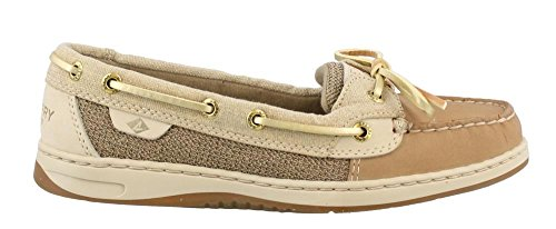Sperry Top-Sider Women's Angelfish Boat Shoe, Linen/Gold, 8 Medium US (Boat Sider Sperry Top)