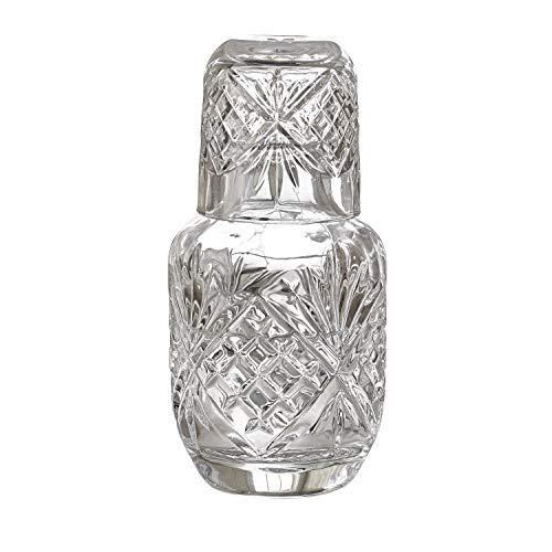 Dublin Crystal Bedside Night Carafe With Tumbler Glass -
