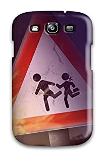 Hot High Quality Cute Caution Tpu Case For Galaxy S3 5320727K72975251