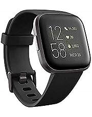 Fitbit Versa 2 Health and Fitness Smartwatch - Black/Carbon Aluminium