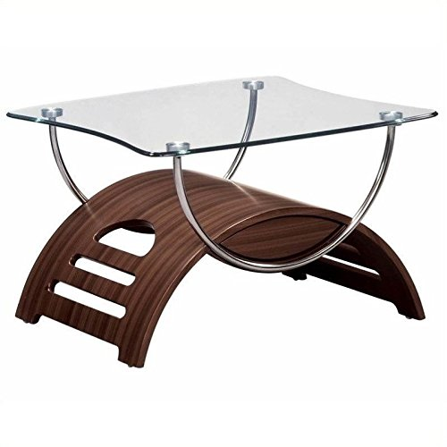 Bedroom Usa Furniture - Global Furniture Chrome Occasional End Table with Mahogany Legs