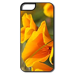 IPhone 5S Cases, Summer Flowers Case For IPhone 5 - White/black Hard Plastic