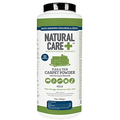 Natural Care Flea and Tick Carpet Powder, 9 oz (Cat Flea Powder)